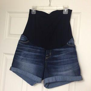 Liz Lange Maternity full panel jean shorts
